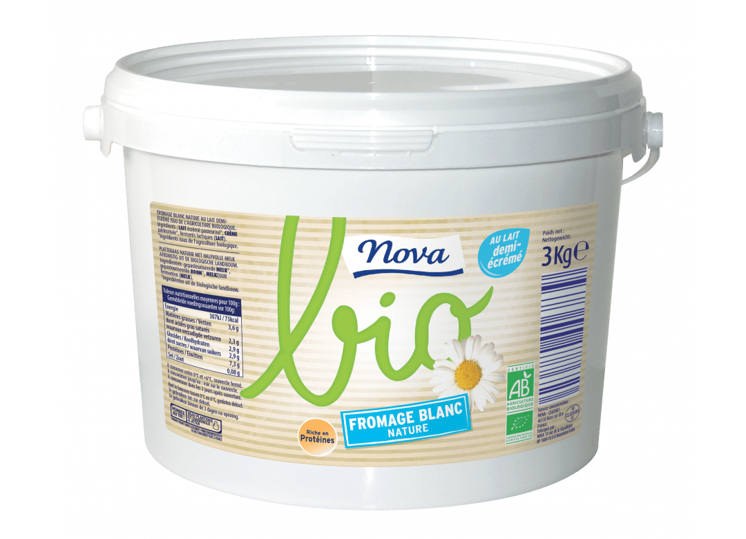 FROMAGE BLANC NATURE BIO 3,6% MG 3Kg
